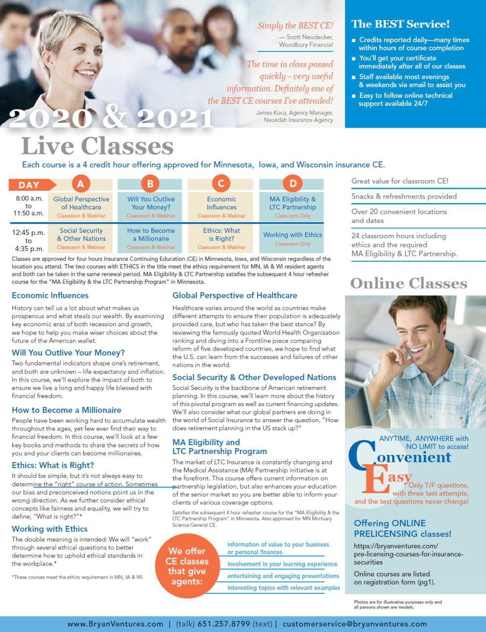 Current Live CE Courses