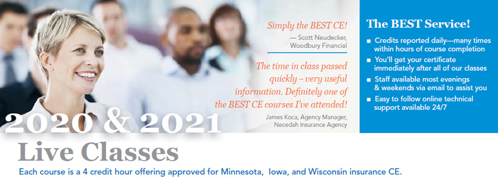 Live Insurance Continuing Education Classes